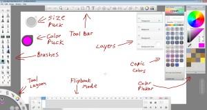 SketchBook Pro 7 UI